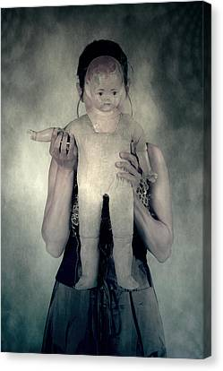 Woman With Doll Canvas Print by Joana Kruse