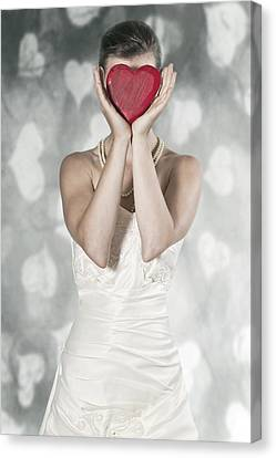 Woman With Heart Canvas Print by Joana Kruse