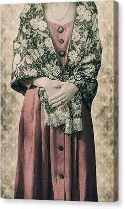 Woman With Shawl Canvas Print by Joana Kruse