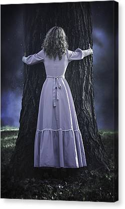 Woman With Trunk Canvas Print