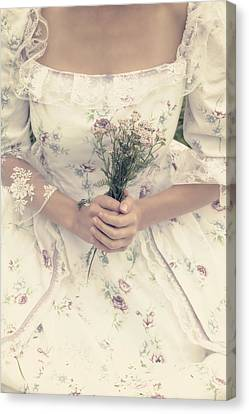 Woman With Wild Flowers Canvas Print by Joana Kruse
