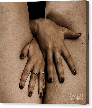 Woman's Hands Canvas Print by Pierre-jean Grouille