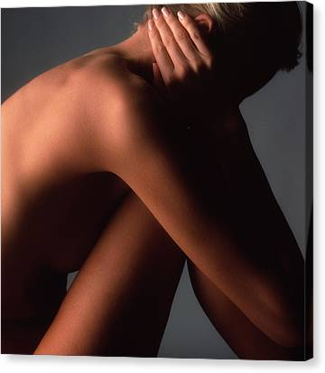 Woman's Shoulder Canvas Print by Phil Jude
