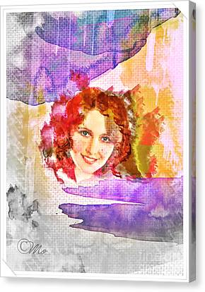 Woman's Soul Part 2 Canvas Print by Mo T