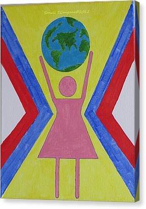 Women Rule The World Canvas Print by Sonali Gangane