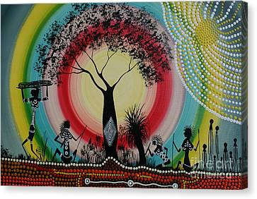 Women Under The Wisdom Tree Canvas Print by David Dunn