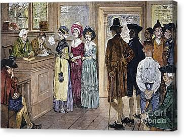 Women Voting Canvas Print by Granger