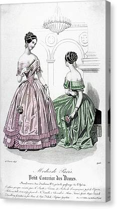 Womens Fashion, 1843 Canvas Print by Granger