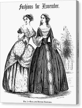 Womens Fashion, 1851 Canvas Print by Granger
