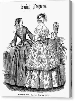 Ball Gown Canvas Print - Womens Fashion, 1853 by Granger
