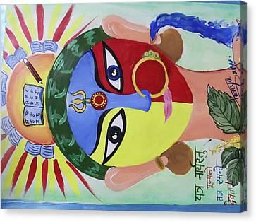 Goddess Durga Canvas Print - Women's Power  by Tanya Sahu