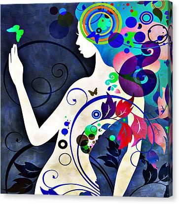 Wonder Night Canvas Print by Angelina Vick