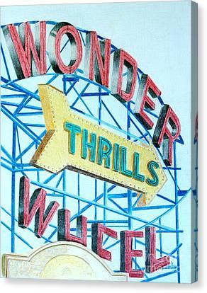 Wonder Wheel Canvas Print by Glenda Zuckerman