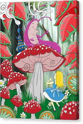 Shrooms Canvas Print - Wonderland by Adam Spencer