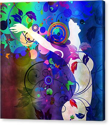 Floating Girl Canvas Print - Wondrous  by Angelina Vick