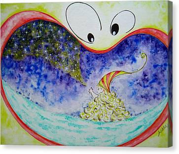 Woo Canvas Print by Asida Cheng
