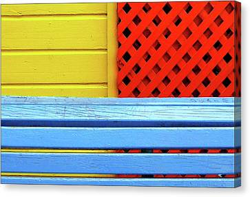 Wood And Colors Canvas Print by by Felicitas Molina