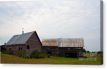 Canvas Print featuring the photograph Wood And Log Sheds by Barbara McMahon