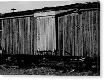 Canvas Print featuring the photograph Wood Boxcar by Elizabeth  Doran
