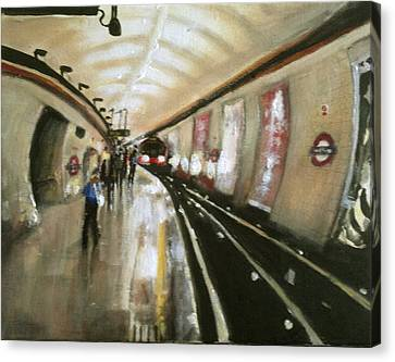 Wood Green Tube Station Canvas Print by Paul Mitchell