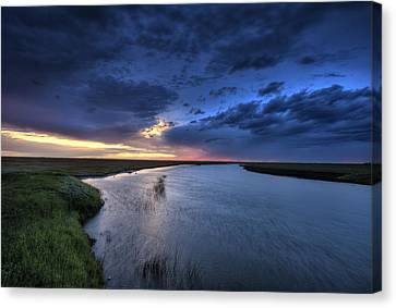 Wood River Saskatchewan Canada Canvas Print by Mark Duffy