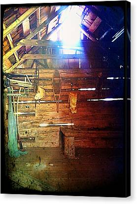 Wood Shed Canvas Print by Jeff Ford