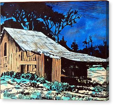 Wood Shed Canvas Print by Mike Holder
