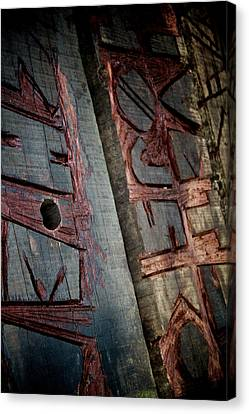 Wood Tattoo Canvas Print by Odd Jeppesen