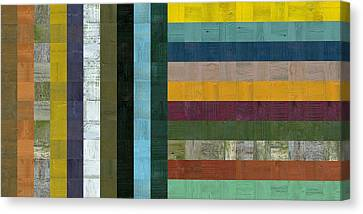 Wooden Abstract Vl  Canvas Print by Michelle Calkins