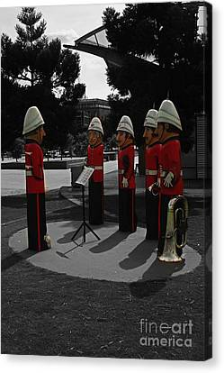 Canvas Print featuring the photograph Wooden Bandsmen by Blair Stuart
