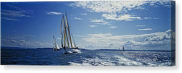 Wooden Boat Festival In Port Townsend Canvas Print by Kenneth Garrett