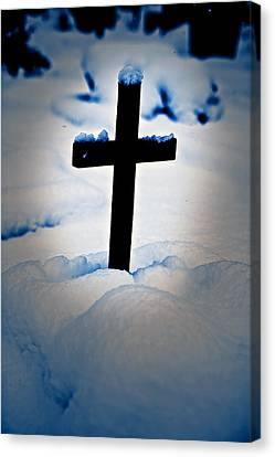 Wooden Cross Canvas Print