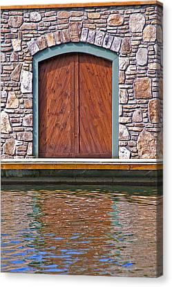 Wooden Door Canvas Print by Susan Leggett