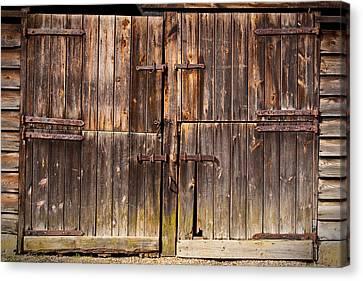 Wooden Door Canvas Print by Tom Gowanlock