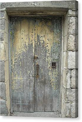 Canvas Print featuring the photograph Wooden Doors by Christophe Ennis