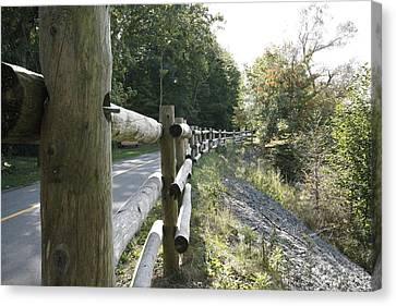 Wooden Fence Canvas Print by Philip Porteus