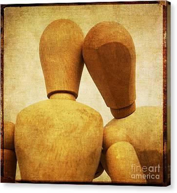 Wooden Figurines Canvas Print by Bernard Jaubert