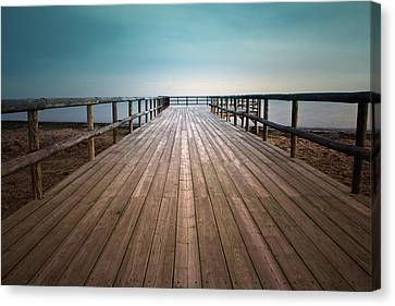 Wooden Pier Canvas Print by Christian Callejas