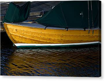 Wooden Sailboat Canvas Print by Rick Mann