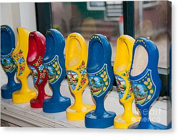 Canvas Print featuring the digital art Wooden Shoes by Carol Ailles