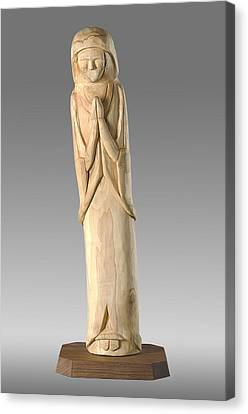 Wooden Statue Carving Canvas Print by Noah Katz