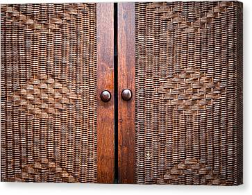 Wooden Wardroabe Canvas Print