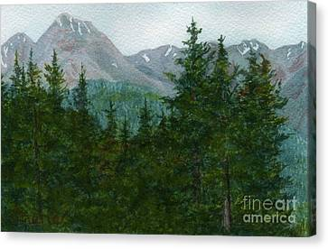 Woodland Overlook Canvas Print by Vikki Wicks
