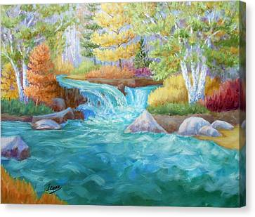 Woodland Stream Canvas Print by Irene Hurdle