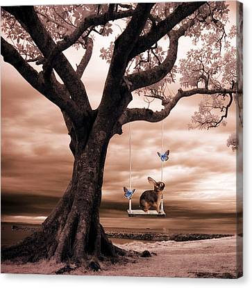 Woodland Swing Canvas Print by Sharon Lisa Clarke