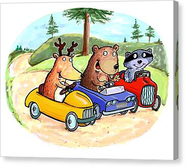 Woodland Traffic Jam Canvas Print