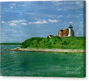Woods Hole Lighthouse Canvas Print by Bob Senesac
