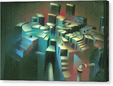 Woodscape 1980 Canvas Print by Glenn Bautista