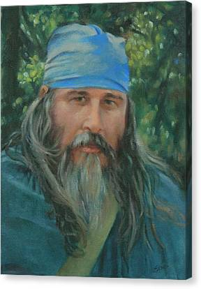 Character Study Canvas Print - Woodsman by Linda Eades Blackburn
