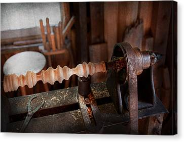 Woodworker Lathe Rough Cut Photograph By Mike Savad